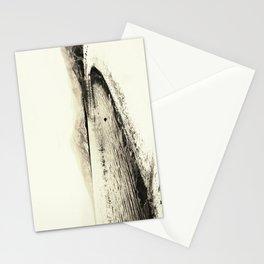 Minimal monochrome lakescape shore Stationery Cards