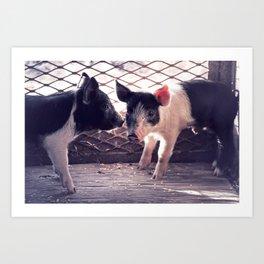 Piglets ♥ Art Print