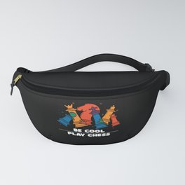 Cool Chess Player Gift Chessboard Pieces Fanny Pack