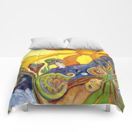 The Dream Whimsical Modern Alice In Wonderland Fantasy Psychedelic Art Comforters