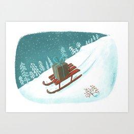 sled post Art Print
