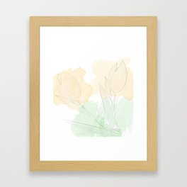 watercolor tulips Framed Art Print
