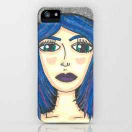 Fur Hooded Girl iPhone Case