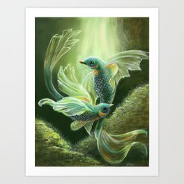 Underwater Birds Art Print