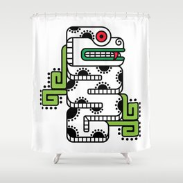 Koru-Fern Serpent Shower Curtain