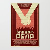 shaun of the dead Canvas Prints featuring Shaun of the Dead by Mark Welser