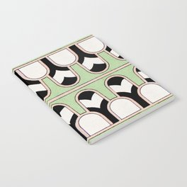 Vintage Mint Green Assyrian Pattern with a hint of Art Deco Notebook