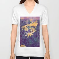 woodstock V-neck T-shirts featuring Woodstock Daisy  by Scotty Photography