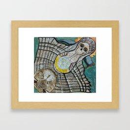 Riendo's Santa Muerte Framed Art Print
