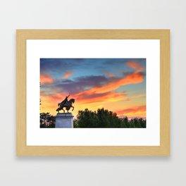 St. Louis Statue Framed Art Print