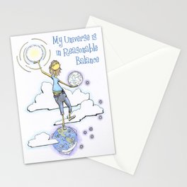 My Universe is in Reasonable Balance Stationery Cards