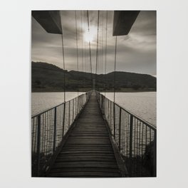 The rope bridge to the bulgarian village Lisicite art photography Poster