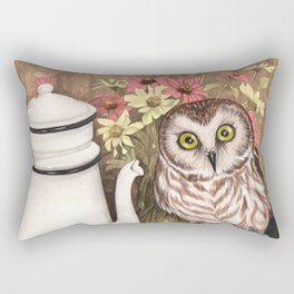 Coffee Owl Rectangular Pillow