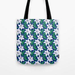 Japanese Floral Pattern 02 Tote Bag