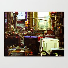 NEW YORK//TRAFFIC Canvas Print