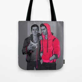 Little Red has Pointy Teeth Tote Bag