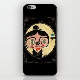 PIGnocchio and the blue fairy / pinocchio pig iPhone Skin