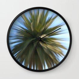 Fireworks Palm Wall Clock