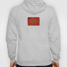 Old and Worn Distressed Vintage Flag of Morocco Hoody