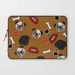 Dogs lovers bulldog and cat Laptop Sleeve