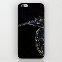 Colorful Digital Sketch of a Heron iPhone Skin