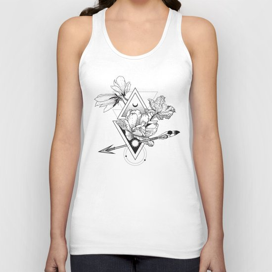 Alchemy symbol with moon and flowers by tukkki
