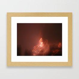 Red Skies At Night Framed Art Print