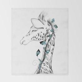 Poetic Giraffe Throw Blanket