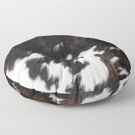 Cowhide Texture Floor Pillow