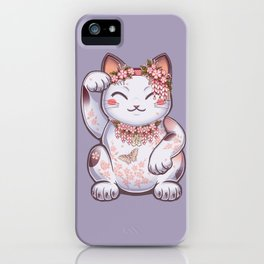 Hanami Maneki Neko: Shun iPhone Case