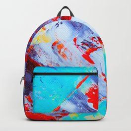 Red Oil Painting Backpack