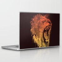 fierce Laptop & iPad Skins featuring FIERCE LION by dzeri29