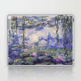 1917 Water Lilies oil on canvas. Claude Monet. Vintage fine art. Laptop & iPad Skin