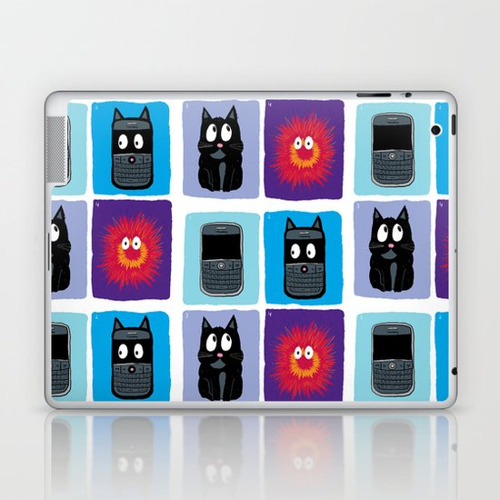 Don't Let Your BlackBerry Turn into Exploding Cats.  Laptop & iPad Skin