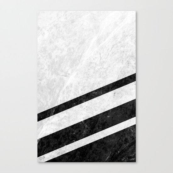 White Striped Marble Canvas Print