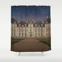 Night Chateau Shower Curtain