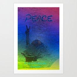 Peace symbol photoart Art Print