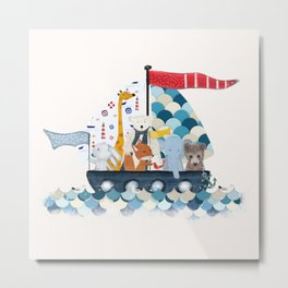 little sailers Metal Print