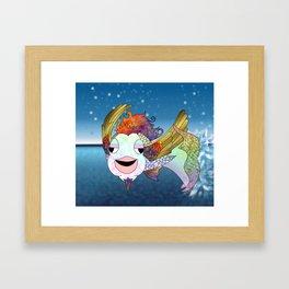 Flying Bahamut Framed Art Print