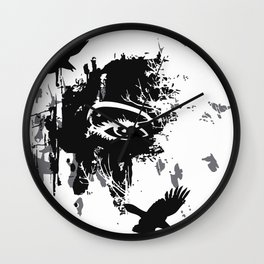 flying ravens Wall Clock