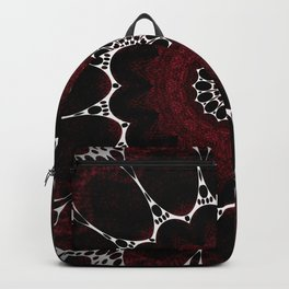 Deep Ruby Red Mandala Design Backpack