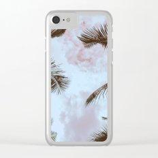Vintage Palms Clear iPhone Case