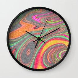 Pastel swirl, glitter colorful swirls Wall Clock