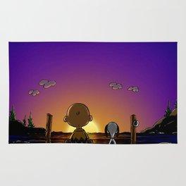 snoopy sunrise Rug