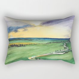 View from the sky Rectangular Pillow