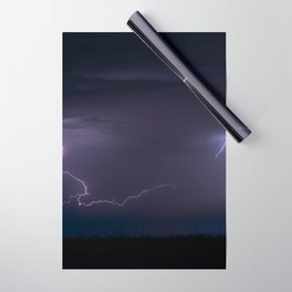 Summer Lightning Storm On The Prairie IV - Nature Landscape Wrapping Paper