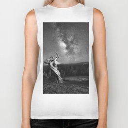 Under Starry Sky At Night Biker Tank