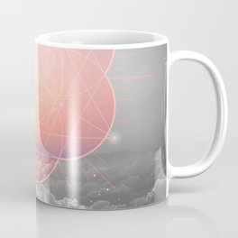 The Sun Is But A Morning Star (Mono Geometric Sunrise) Coffee Mug