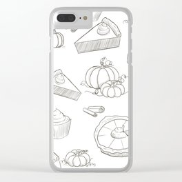 Autumn Food Clear iPhone Case