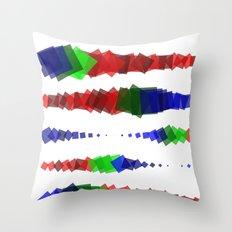Screen Squares Throw Pillow